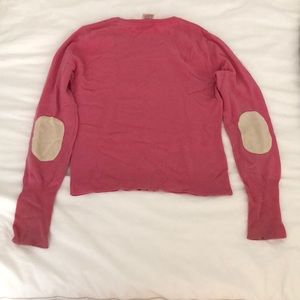Alice + Olivia 100% Cashmere Elbow Patch Sweater M